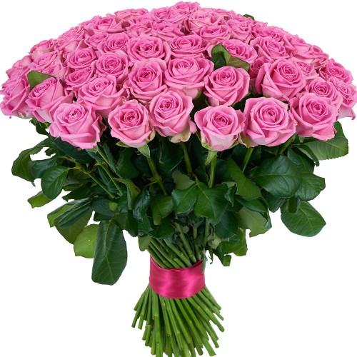 Купить на заказ Букет из 101 розовой розы с доставкой в Шемонаихе