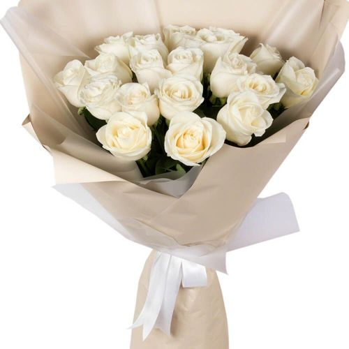 Купить на заказ Букет из 19 белых роз с доставкой в Шемонаихе