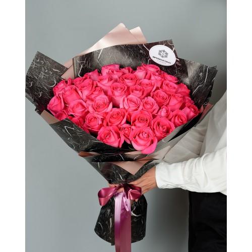 Купить на заказ Букет из 51 розовых роз с доставкой в Шемонаихе