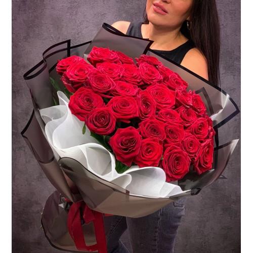 Купить на заказ Букет из 35 красных роз с доставкой в Шемонаихе
