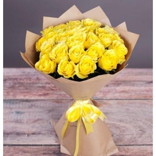 Купить на заказ Букет из желтых роз с доставкой в Шемонаихе