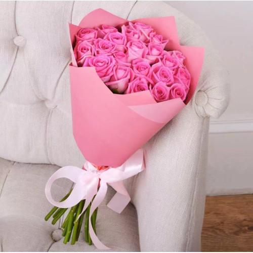 Купить на заказ Букет из 21 розовой розы с доставкой в Шемонаихе