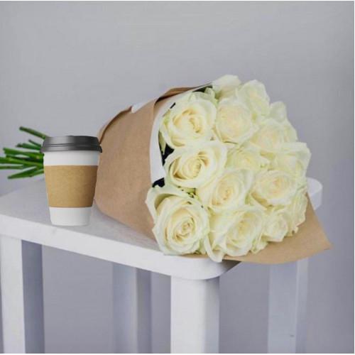 Купить на заказ Кофе с цветами с доставкой в Шемонаихе