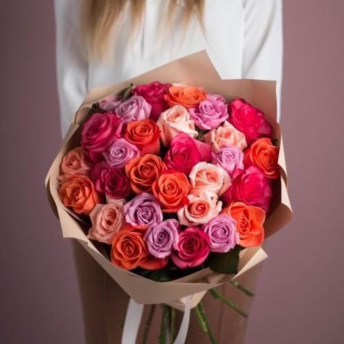 Купить на заказ Букет из 25 роз (микс) с доставкой в Шемонаихе