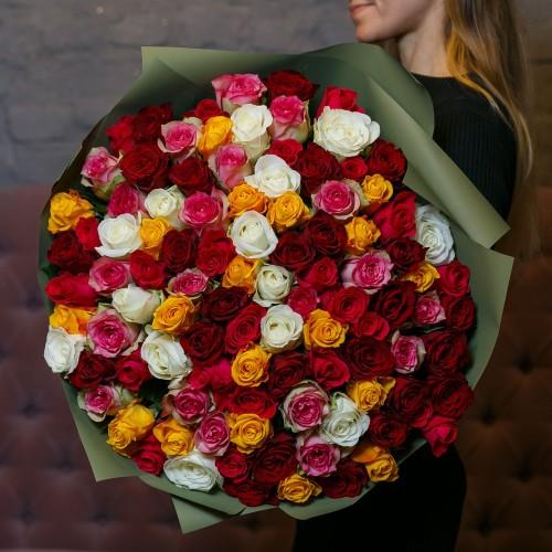 Купить на заказ Букет из 101 розы (микс) с доставкой в Шемонаихе