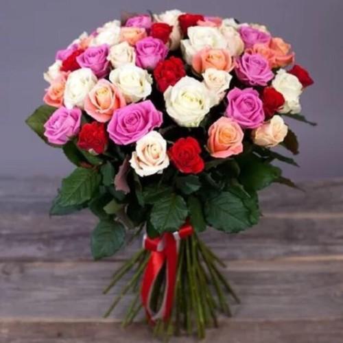 Купить на заказ Букет из 31 розы (микс) с доставкой в Шемонаихе